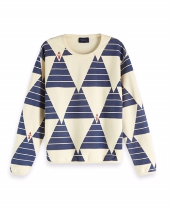Scotch & Soda Allover Printed Sweat-jumpers-Diahann Boutique