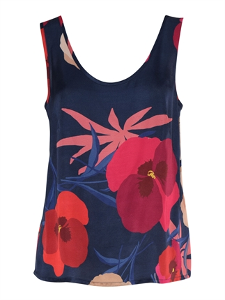 Sills Pansy Print Cami-tops-Diahann Boutique