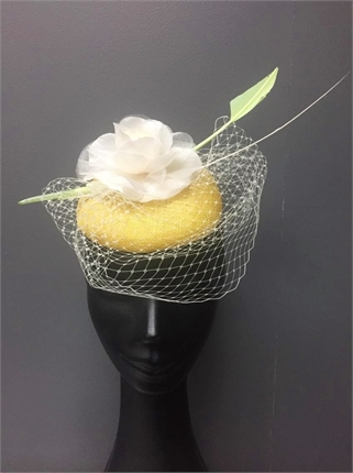 Show Pony Yellow Fascinator-accessories-Diahann Boutique
