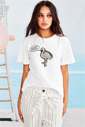 Coop Flamingo Your Own Way Tee-tops-Diahann Boutique