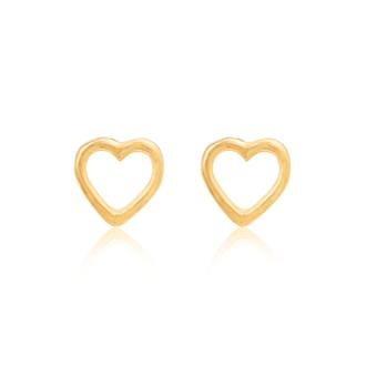 Linda Tahija Open Heart Studs-accessories-Diahann Boutique