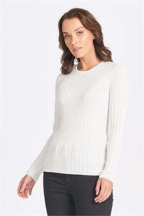 Optimum Wide Rib Crew-jumpers-Diahann Boutique