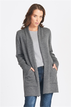 Optimum Open Front Cardi-jackets-and-coats-Diahann Boutique