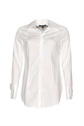 Paula Ryan Double Collar Slim Fit Shirt-shirts-Diahann Boutique