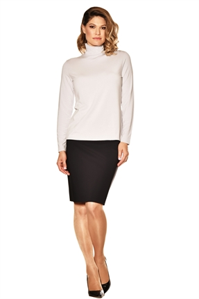 Paula Ryan Easy Fit Long Sleeve Polo Neck-tops-Diahann Boutique