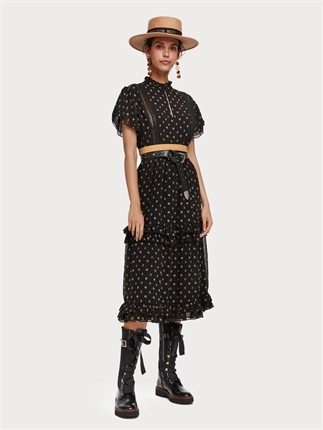 Scotch and Soda Ruffle and Lace Dress-dresses-Diahann Boutique
