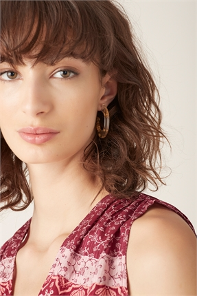 Bandita Hoop Earring-accessories-Diahann Boutique