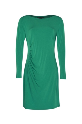 Paula Ryan Side Ruched Long Sleeve Dress-dresses-Diahann Boutique
