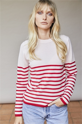 Elle and Riley Fleur Striped Crew-jumpers-Diahann Boutique