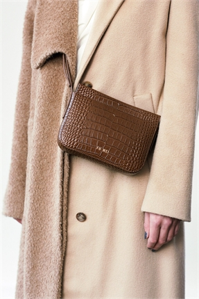 Yu Mei Vi Bag Cognac Croc-accessories-Diahann Boutique