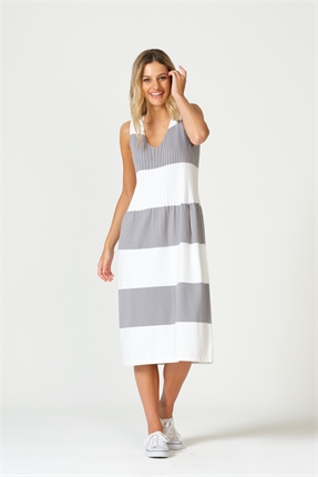 Optimum Block Stripe Dress-dresses-Diahann Boutique