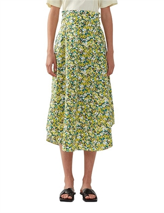 C&M Ditzy Print Skirt-skirts-Diahann Boutique