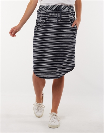Elm Isla Stripe Skirt-skirts-Diahann Boutique