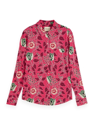 Scotch and Soda Pink Print Shirt-tops-Diahann Boutique