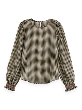 Scotch and Soda Houndstooth Top-tops-Diahann Boutique