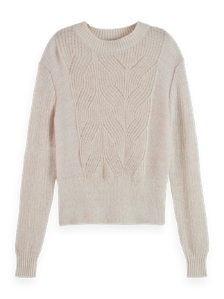 Scotch and Soda Fuzzy Cable Knit-jumpers-Diahann Boutique
