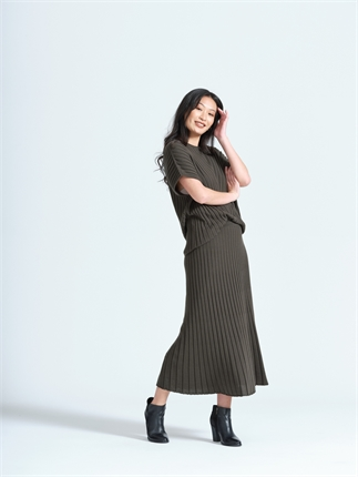 Optimum LONG FLARED SKIRT-skirts-Diahann Boutique