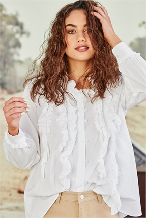 Cooper RUFFLE MY FEATHERS SHIRT -shirts-Diahann Boutique
