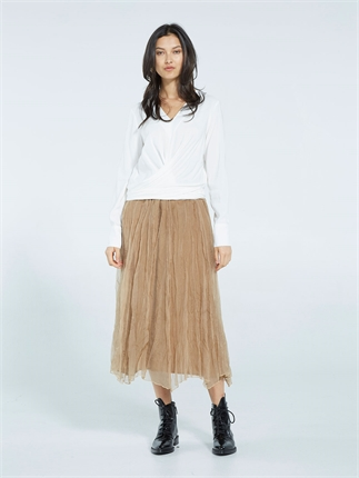 Caroline Sills FABIOLA SILK SKIRT(3 colours)-skirts-Diahann Boutique