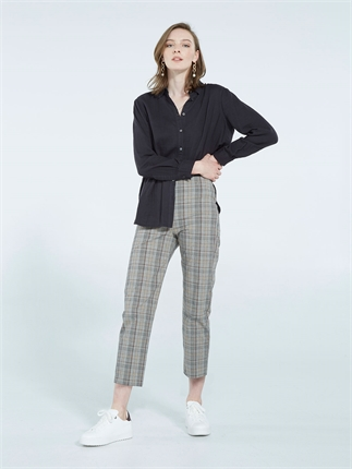 Sills CHECK ASTAIR PANT-pants-Diahann Boutique