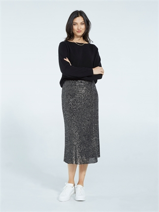 Caroline Sills SPARKLE SKIRT (2 Colours)-skirts-Diahann Boutique