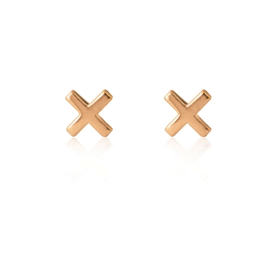 Linda Tahija Cross Stud Earrings - Rose-accessories-Diahann Boutique