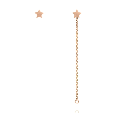 Linda Tahija Star Stud with Chain-Rose-accessories-Diahann Boutique