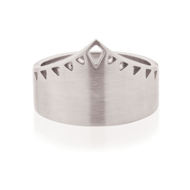 Linda Tahija Shield Ring - Silver-accessories-Diahann Boutique